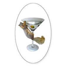 Martini Squirrel Decal
