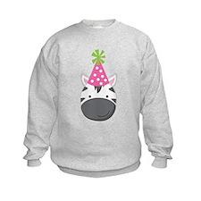Birthday Zebra Sweatshirt