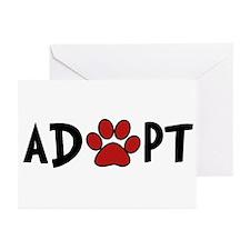 Adopt - Paw Greeting Cards (Pk of 10)