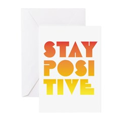 Stay Positive Greeting Cards (Pk of 10)