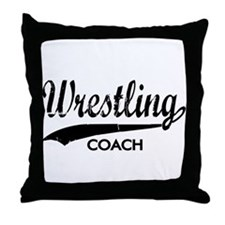WRESTLING COACH Throw Pillow