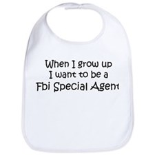 Grow Up Fbi Special Agent Bib
