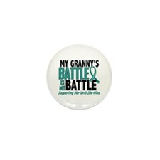 My Battle Too Ovarian Cancer Mini Button (100 pack