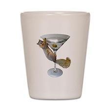 Martini Squirrel Shot Glass