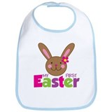 Girl Easter Bunny 1st Easter Bib