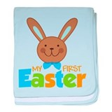 Boy Easter Bunny 1st Easter baby blanket