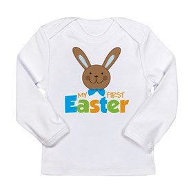 Boy Easter Bunny 1st Easter Long Sleeve Infant T-S