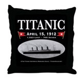 Titanic Ghost Ship (black) Throw Pillow