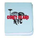 Coney Island NYC baby blanket