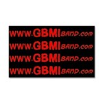 GBMI Wensite Car Magnet Red