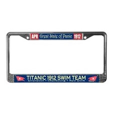 Cute Titanic neon License Plate Frame