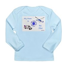 Pilot Mom Long Sleeve Infant T-Shirt