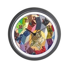 Tumbling Block Patchwork Quilt Wall Clock