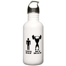 My Man vs. Your Man Water Bottle