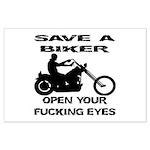 Save A Biker Large Poster