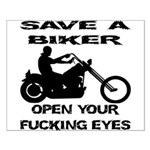 Save A Biker Small Poster