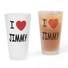 I heart jimmy Drinking Glass