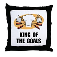 King Of Coals Throw Pillow