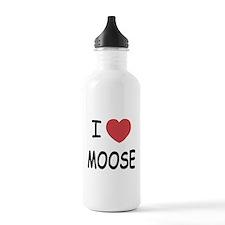 I heart moose Water Bottle