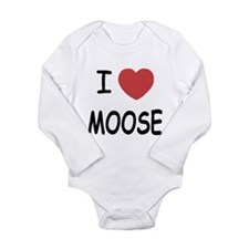 I heart moose Long Sleeve Infant Bodysuit