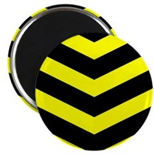 "Black/Yellow Chevron 2.25"" Magnet (100 pack)"