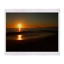 Sunset 26th Ave Beach Throw Blanket