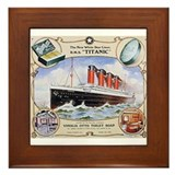 Titanic First Class Soap Framed Tile