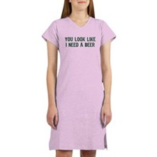 I Need A Beer Women's Nightshirt