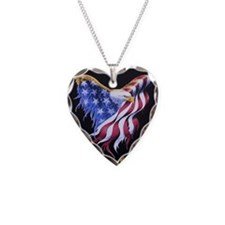 Flag and Eagle Necklace