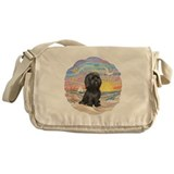 OceanSunrise-ShihTzu-blk Messenger Bag