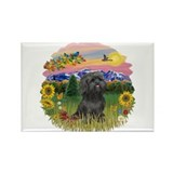 MtCountry-ShihTzu-blk Rectangle Magnet