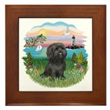LightHouse-BlackShihTzu Framed Tile