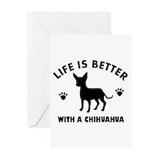 Chihuahua Breed Design Greeting Card