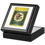 """Illinois Gold"" Keepsake Box"