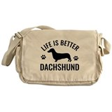 Daschund Design Messenger Bag