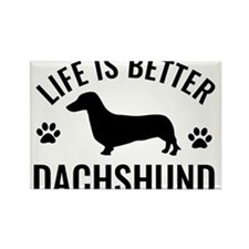 Daschund Design Rectangle Magnet (100 pack)