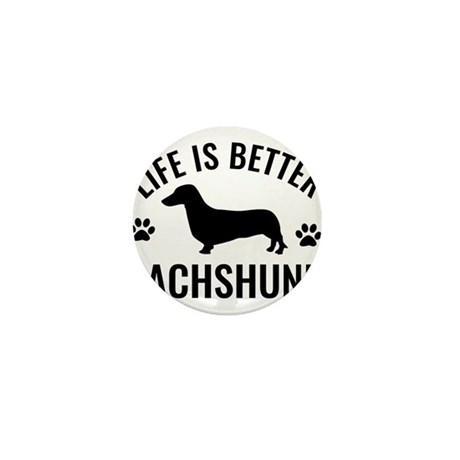 Daschund Design Mini Button (10 pack)