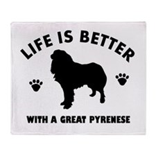 Great Pyrenese breed Design Throw Blanket