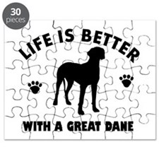 Great Dane breed Design Puzzle