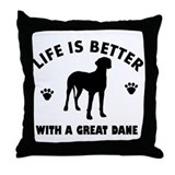Great Dane breed Design Throw Pillow