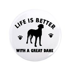 "Great Dane breed Design 3.5"" Button (100 pack)"