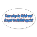 stopstart Sticker (Oval 10 pk)