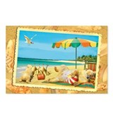 WonderWorld Beach Bear Postcards (Package of 8)