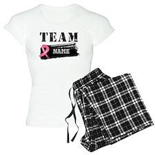 Team Breast Cancer Name Pajamas