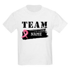 Team Breast Cancer Name T-Shirt