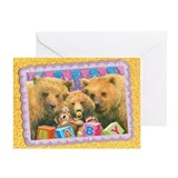 WonderWorld Baby Bear Greeting Card