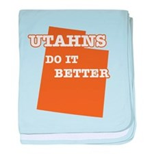 Utahns Do It Better baby blanket