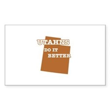 Utahns Do It Better Decal