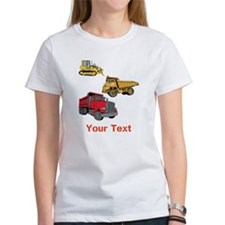 Works Site Vehicles and Text Tee