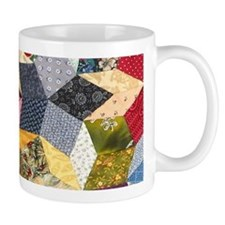 Tumbling Block Patchwork Quilt Small Mug